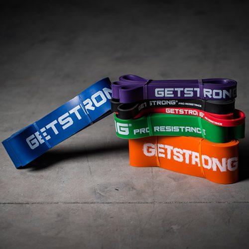 Bandas Elásticas de GetStrong para Box de CrossFit en Varios Colores y Resistencias