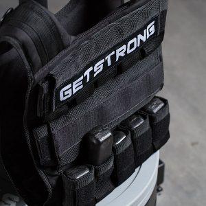 Detalle del Chaleco Lastrado GS Pro con carga de lastre de 5 kg