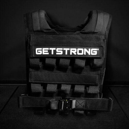 Chaleco para lastre de getstrong. Diseñado para lastrar dominadsa, dips, y flexiones.