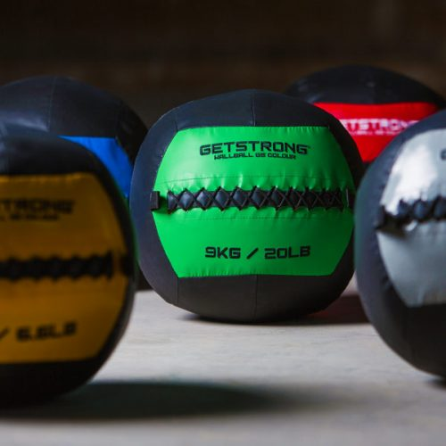 WallBall GS Colour para Box de CrossFit y Entrenamiento Funcional. Núcleo Central de Colores.