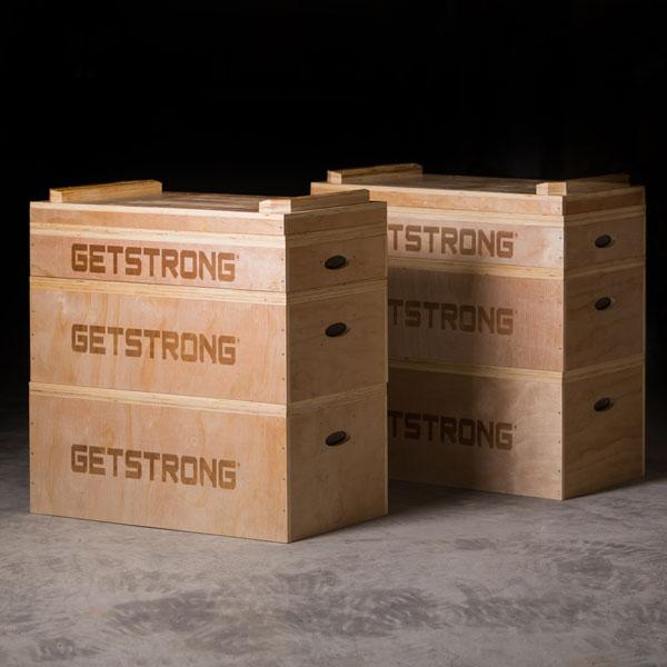 Cajones de Halterofilia Jerk con Grabado de GetStrong