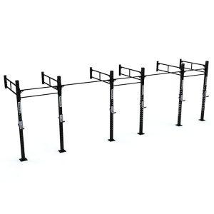 Estructura para Box de CrossFit con un total de 5 puestos.