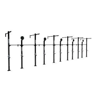 Estructura o Jaula para CrossFit con 10 puestos, dianas, y extensiones para anillas