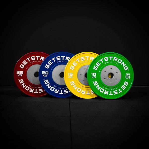 Discos olímpicos para la práctica de halterofilia by GetStrong