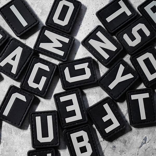 Parches Letras Abecedarios para CrossFit