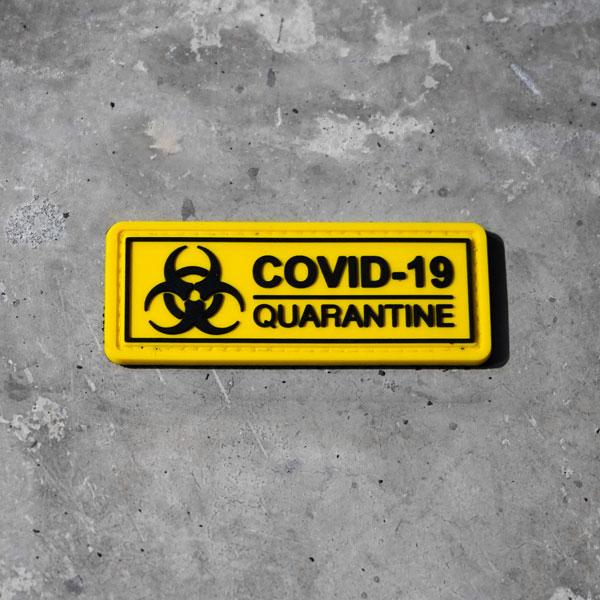 Parche COVID-19 Quarantine para Chalecos y Mochilas