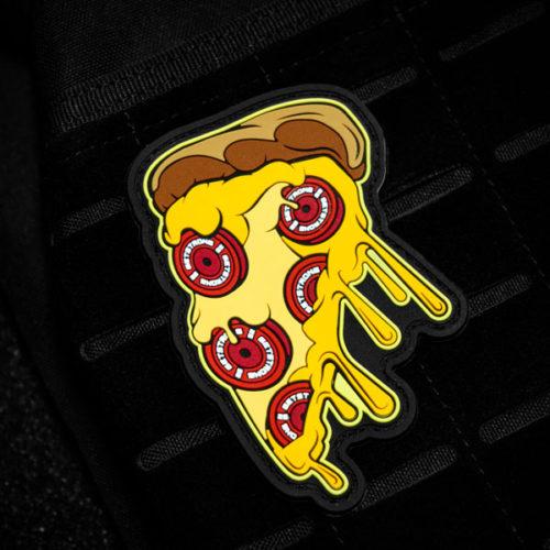 Parche con forma de pizza y velcro para crossfit