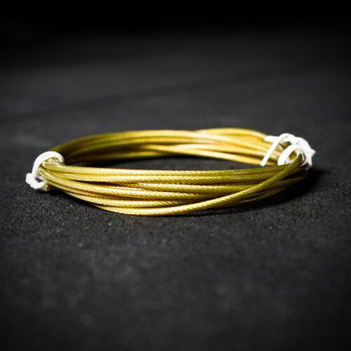 Cable amarillo de acero para comba GetStrong