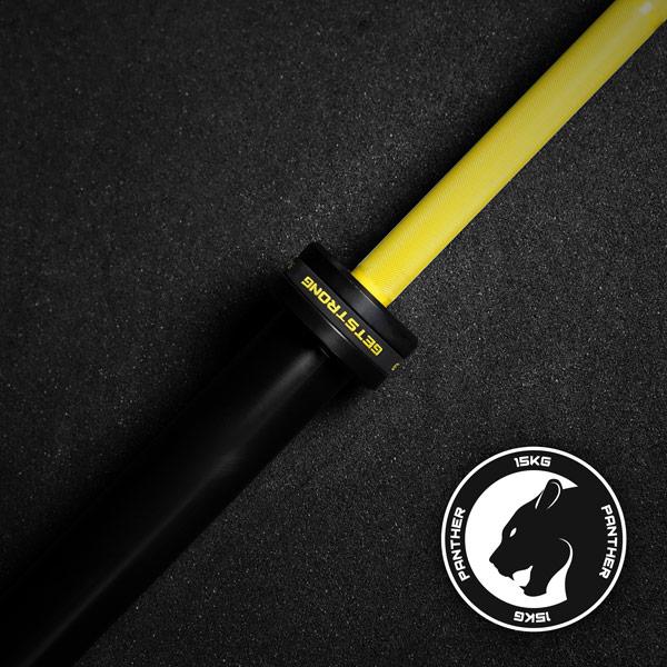 Barra olímpica phanter yellow de 15 kg para crosstraining